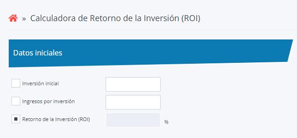 calkoo calculadora ROI