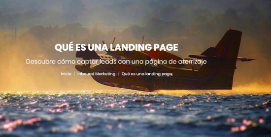 Qué es una landing page